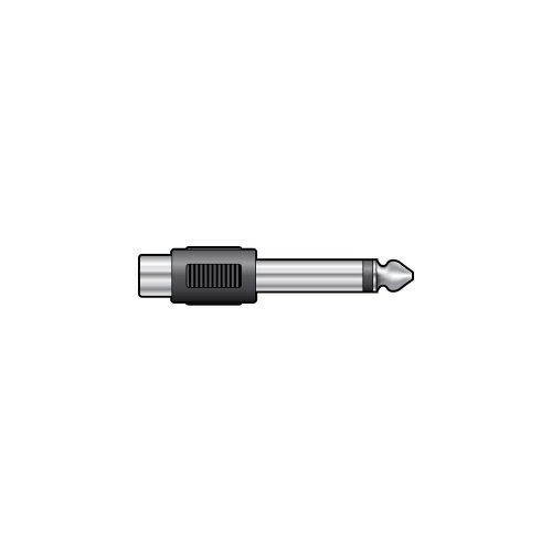 6.3mm Mono Jack Plug - RCA Phono Socket