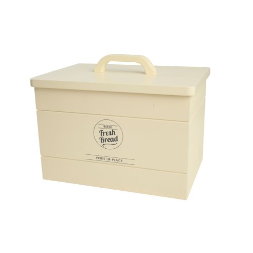 T&G Woodware Pride Of Place Wooden Bread Crock In Vintage Cream 10527