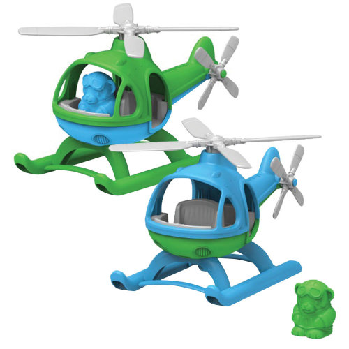 Green Toys Helicopter with Figure