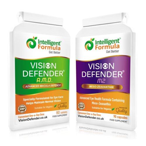 Vision Defender Vegan Eye Supplement: AMD Plus MZ Macula Health Bundle (90 Days Supply)