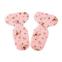 2 Pairs T Shape Heel Grips Care Heel Cushions Padded Strawberry Pattern, Pink