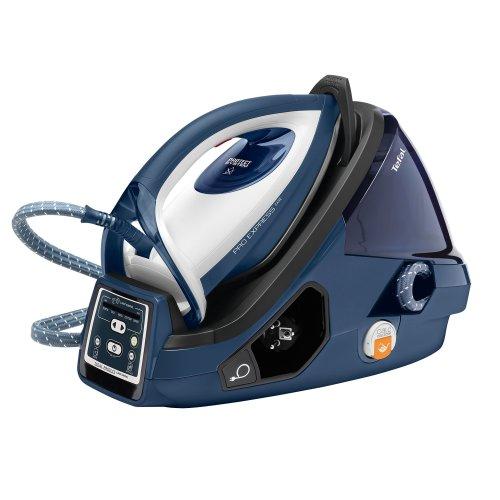 Tefal GV9071 Pro Express Care Anti Scale High Pressure Steam Generator, 2400 Watt, Black/Blue