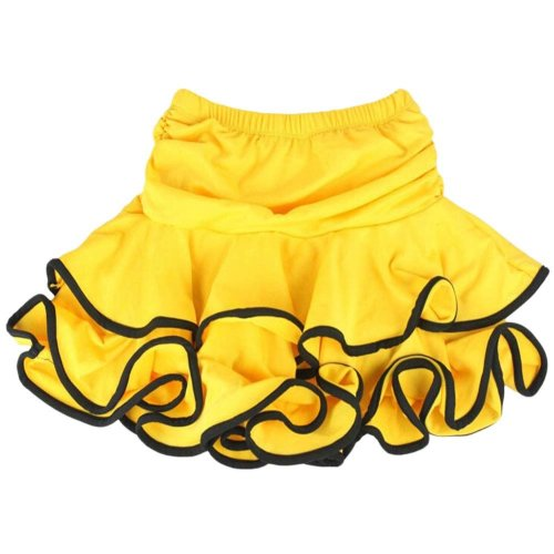 Asian M Beautiful [Yellow] Little Girls Latin Dance Skirt Soft Practice Dress
