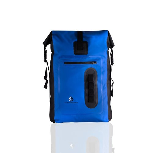 Waterproof 30L Roll Top Dry Bag Backpack Rucksack. Keep Gear Dry When Hiking, Boating, Canoeing, Camping and SUP. Rainproof In All Conditions (Blue)