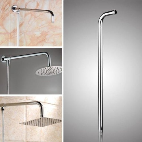 50x10cm Stainless Steel Silver Shower Head Bracket Wall Mounted Tube Bathroom Accessories