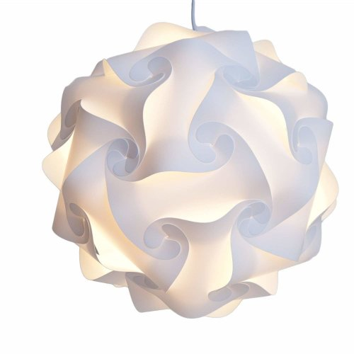 Retro Puzzle Lampshade, Medium 28  30 Centimeter Puzzle Lightshade Jigsaw Light Shade, Self Assembly.