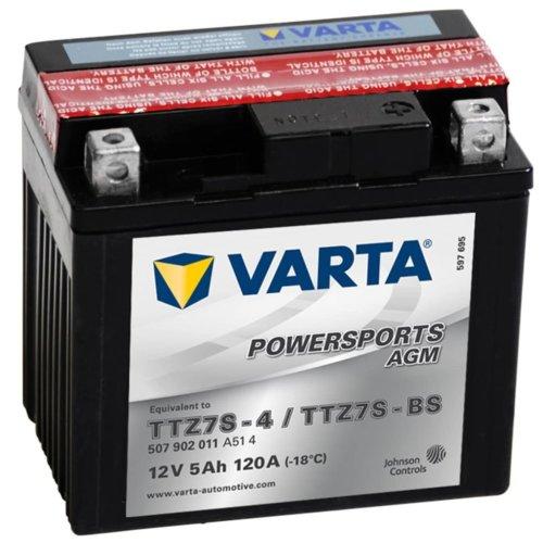 Varta AGM Battery 12 V 5 Ah YTZ7S-4 / YTZ7S-BS
