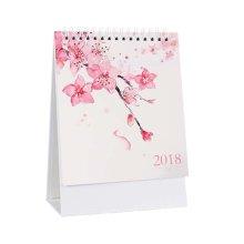 2018 Calendar Simple Plan Book Small Decoration Calendar Office/Home-Peach