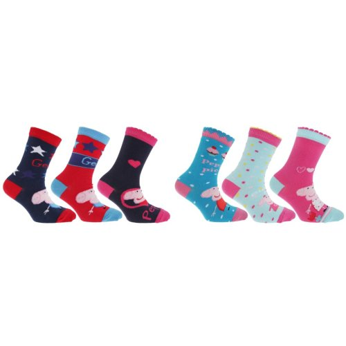 Childrens/Kids Peppa Pig Socks (Pack Of 3)