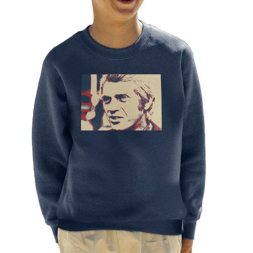 Steve McQueen London 1969 Poster Style Kid's Sweatshirt