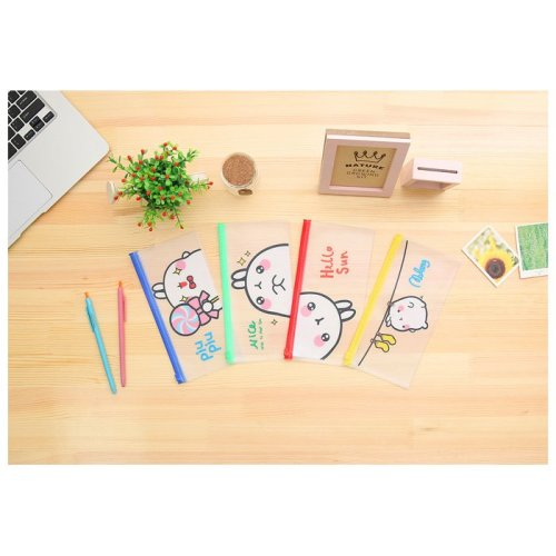 Cute Rabbit Bunny PVC Plastic See Through Pencil Case