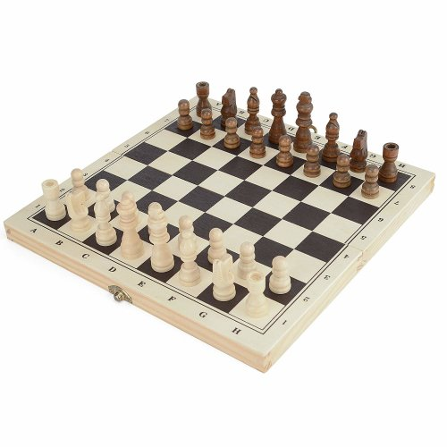 Toyrific Wooden Chess/Draughts/Backgammon 3-in-1 Game Board