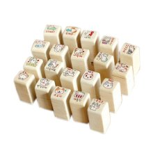 Super Cute Cats of All Expression Stamps Wood Stamps 20 Pcs with Inkpad
