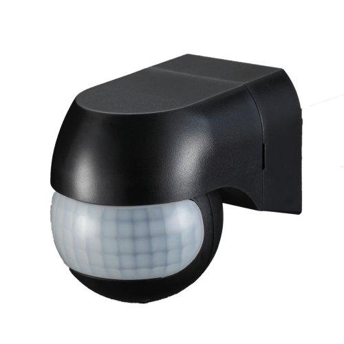 Modern New Outdoor PIR Light Control Motion Sensor 180 degree Black IP44