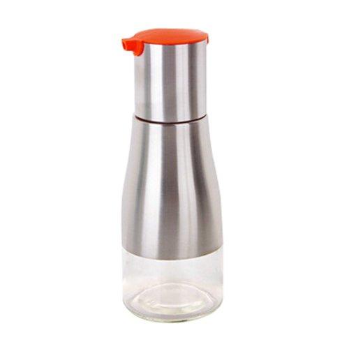 260ML Creative Kitchen Oil / Vinegar Cruet Square Glass Bottle Orange