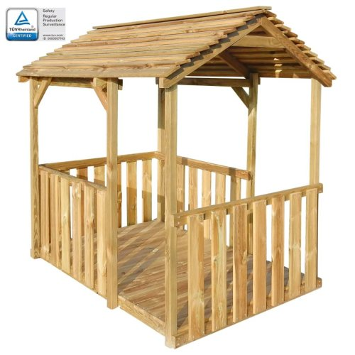 vidaXL Outdoor Pavilion Playhouse 122.5x160x163 cm FSC Pinewood