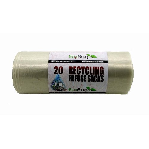 EcoBag Clear Recycling Bags 100L (Pack of 20)