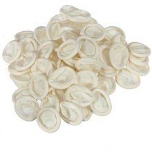 100Pcs Nail Art White Latex Rubber Protector Finger Cots Medium Size