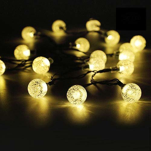 50 Led Solar String Lights Outdoor Waterproof Ed Garden Iihome 22feet Crystal Ball Decorative Lighting For Patio