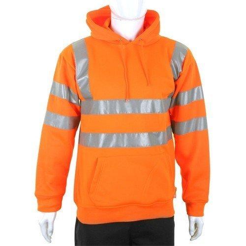 Click BSSSH25ORL Hi Vis Orange Hoody Pull On Sweatshirt Large