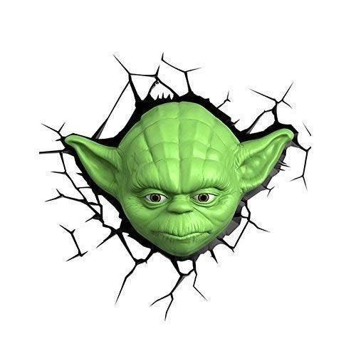 3D Licht Star Wars Yoda Wall Lamp - nightlight or mood light Mode