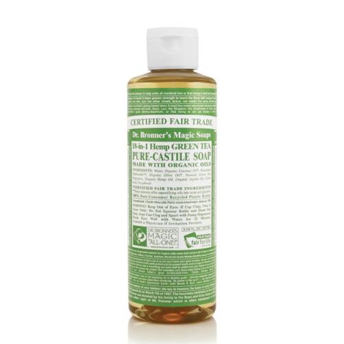 Dr Bronner Org Green Tea Castile Liq Soap 237ml