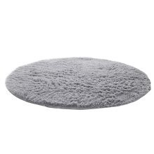 Nonabrasive Round Chair Mats Fuzzy Durable Chair Carpet 31*31 (Silver Gray)