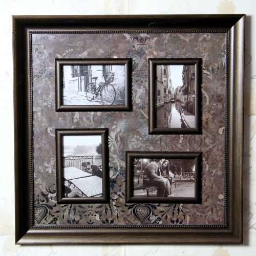 Brown Floral Leaf Multi Photo Frame