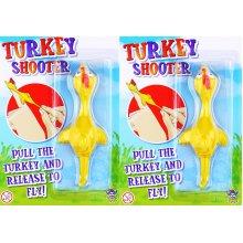 2x Flying Turkey Shooter Novelty Boys Girls Christmas Stocking Filler Toy Gift