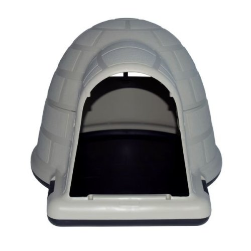 Tough Plastic Dog Kennel Igloo House Outdoor