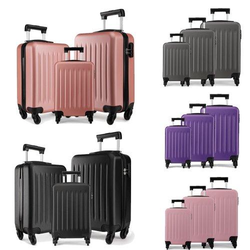 """Kono Hard Shell 4 Wheel Spinner Suitcase Luggage   20, 24, 28"""" & Set"""