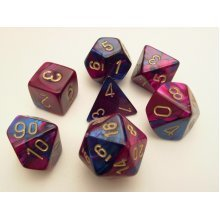 Chessex Gemini Polydice Set - Blue-Purple/gold