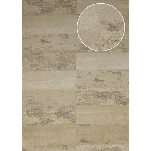 Atlas ICO-5072-4 Stone tile wallpaper shimmering ivory grey-beige 7.035 sqm