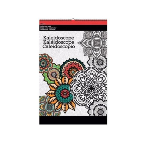 Kole Imports OT760-12 11 x 17 in. Kaleidoscope Large Coloring Pad - Pack of 12