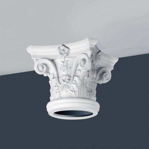 Orac Decor K1122 LUXXUS Full Column Capital Stucco Decoration white