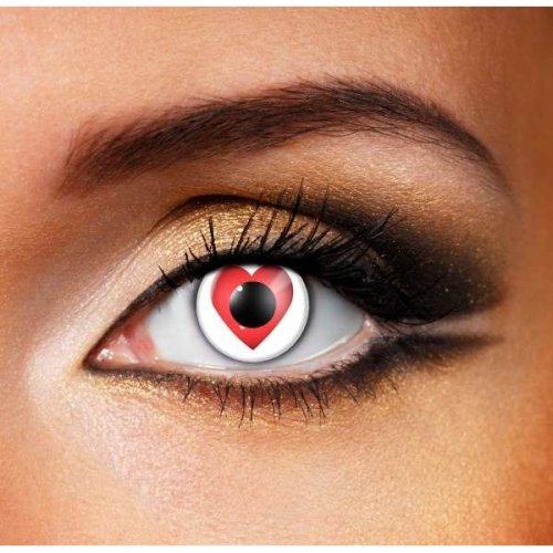 Queen of Hearts Contact Lenses (Pair) - (Halloween Contact Lenses)