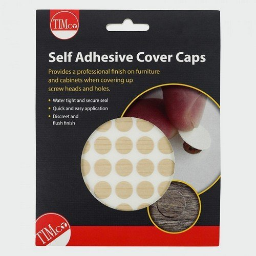 TIMco COVERMA13 Adhesive Caps Maple 13mm Pack of 112