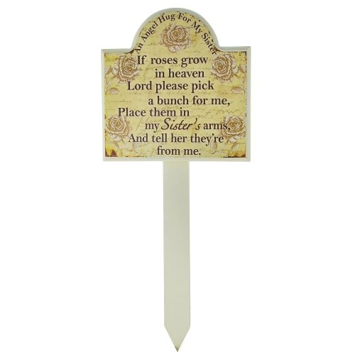 Sister Grave Memorial Stick Stake Marker If Roses Grow In Heaven