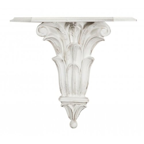 Antiqued White Finishing Wall Shelf L39xd24xh37 Cm. Made In Italy