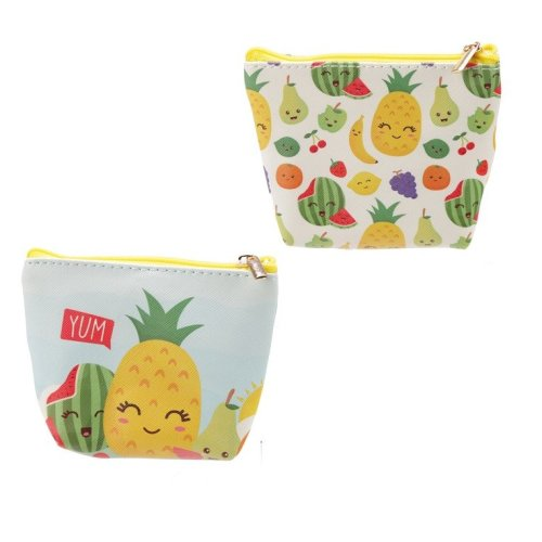 Handy PVC Make Up Bag Purse - Fruit with Faces