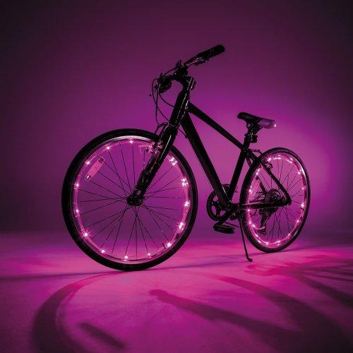 JML Wheely Bright LED Bike Wheel Spoke & Frame Lights 2 Pack Pink