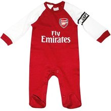 Official Arsenal Baby Core Kit Sleepsuit - 2017/18 Season (12-18 Months)