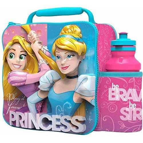St364 - 3d Lunch Bag With Bottle - Disney Princess - Set Bagbox Cinderella New -  disney princess 3d lunch bottle set bag bagbox cinderella new