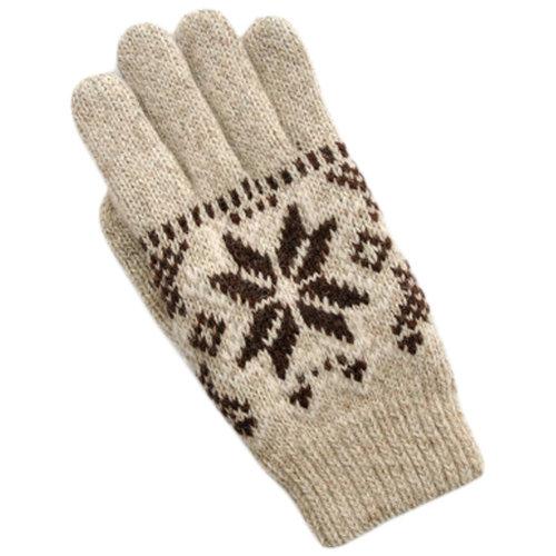 1 Pair Men Winter Warm Wool Knitted Gloves Thicken Full Finger Gloves F