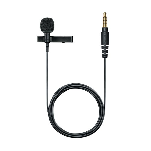 Shure MVL/A Condenser Lavalier Microphone, high-quality digital voice recording on the go, plugs into any mobile phone or tablet with a headset...