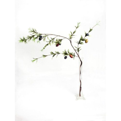 Artificial Olive Branch 117cm Length Fake Fruit Branches
