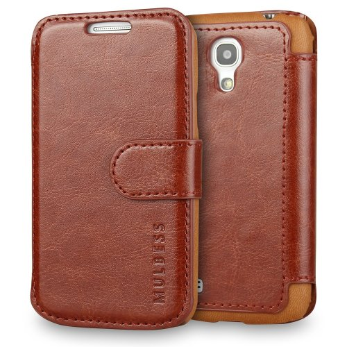 quality design 958bb c9c06 Samsung Galaxy S4 mini Case - Mulbess PU Leather Flip Case Cover for  Samsung Galaxy S4 mini Wallet Coffee Brown