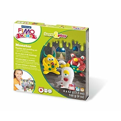 STAEDTLER 8034 11 LZ Fimo Kids Monsters Form and Play Set