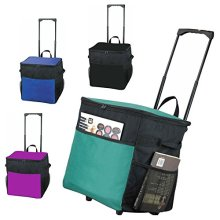 Extra Large Picnic Roller Cooler Trolley Bag Telescopic Handle Travel Cool Ice [Purple]