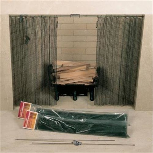 UniFlame C-6818 48in. X 18in. Fireplace Spark Screen - Rod Kit Not Included